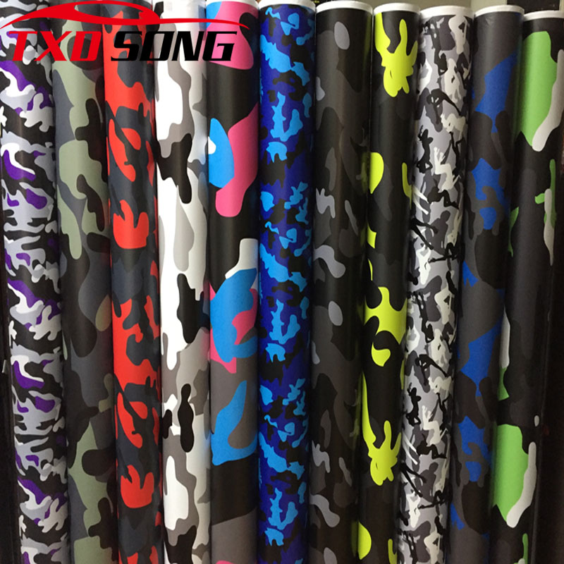 1.52*5m/10m/15m/20m/30m premium Camo Vinyl Film <font><b>Camouflage</b></font> Car Wrap Film For Car Styling <font><b>Bike</b></font> Computer Laptop Scooter Motorcycle image