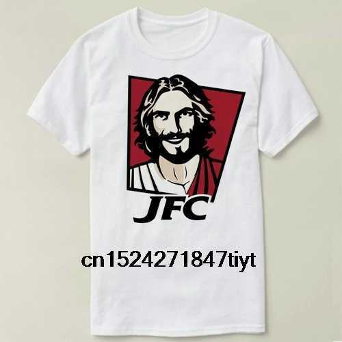 Футболка из хлопка с коротким рукавом для мужчин и женщин с изображением Иисуса Христа