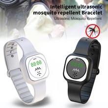 2020 nowy ultradźwiękowy przeciw komarom owad Pest Bugs odstraszacz odstraszacz bransoletka na rękę ultradźwięki odkryty dzieci Watchband nadgarstek tanie tanio centechia Wszystko kompatybilny RUBBER Kalendarz NONE english Chiński Życie Wodoodporna CN (pochodzenie) Dla dorosłych
