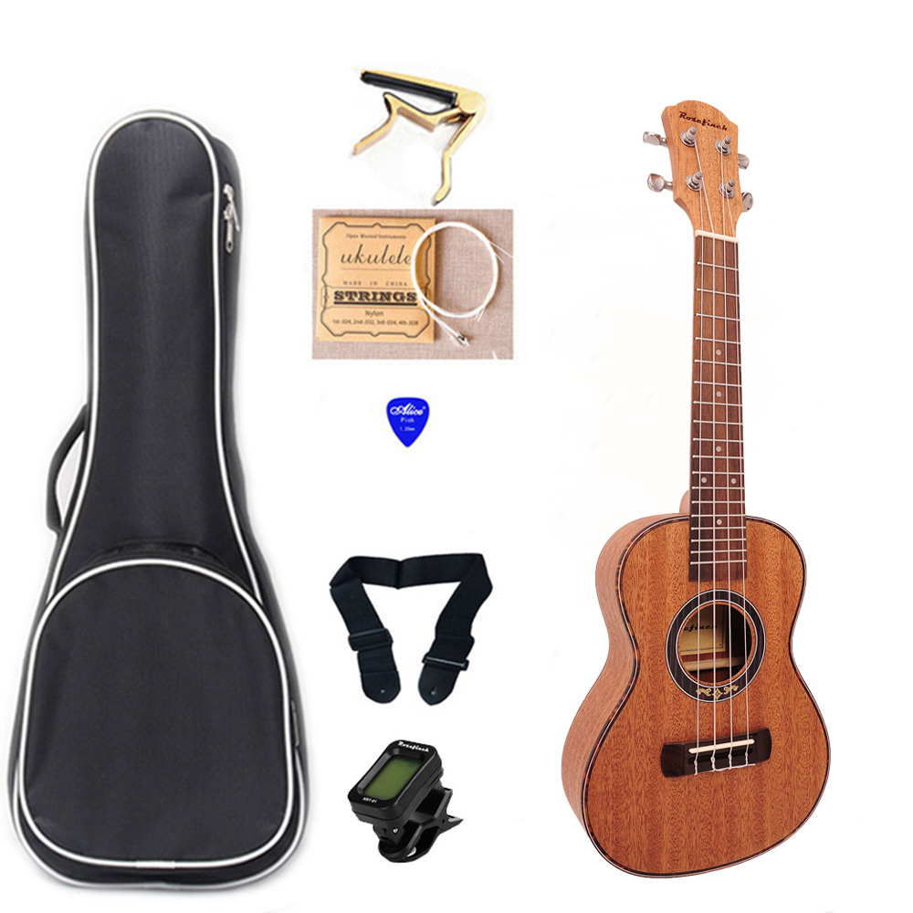 23 Inch 4 String Mahogany Ukulele Set Tuner Ukulele Stage Performance Hawaii Guitar Music UKU Pickup Show UKU01