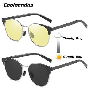 Image 4 - Солнцезащитные очки поляризационные для мужчин и женщин, умные фотохромные круглые очки дневного и ночного видения, для вождения