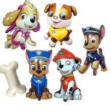 Figuras de acción de la Patrulla Canina, Set de juguetes de cumpleaños de perros, Chase Marshall Sky Rubble, figura de globos de látex, decoración de fiesta, regalo para chico, 2020