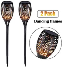 96 LED Solar Flame Light Soft Control Dance Design Outdoor Waterproof Garden Torch Lamp for Courtyard Balcony