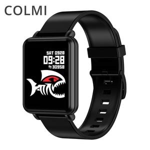 Image 1 - COLMI לנד 1 מלא מסך מגע חכם שעון IP68 עמיד למים Bluetooth ספורט כושר tracker גברים Smartwatch עבור IOS אנדרואיד טלפון