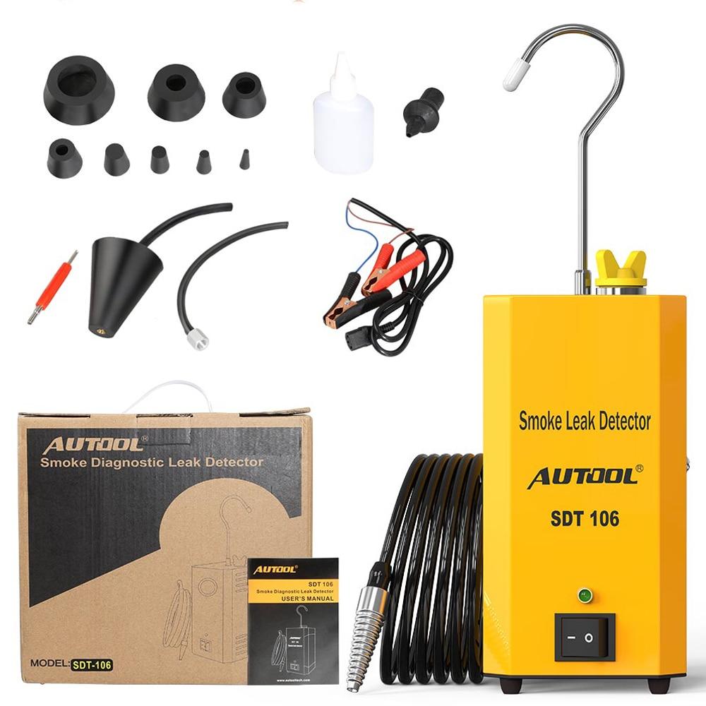 AUTOOL SDT106 Smoke Machine Car Leak Locator Auto Automotive Diagnostic Smokes Leak Detector For AUTOOL SDT-106