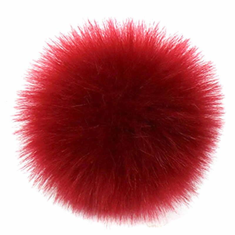 Kleurrijke Grote Natuurlijke Wasbeer Bont Pompon Vossen Bont Pompom Voor Vrouwen Hoed Bont Pom Poms voor Hoeden Caps voor Gebreide hoed Cap