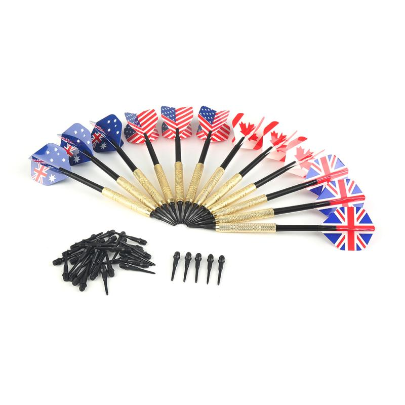 12Pcs Professional 175 Grams Steel Tip Darts Copper Plating Needle Darts Nice High Quality Throwing Game Toys 7