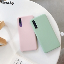Meachy Candy Color Liquid Silicone Phone Case For Huawei P20 Pro Lite P30 Mate 10 20 Soft Fashion Cases