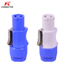 50pcs NAC3FCA NAC3FCB Powercon Connector, 3pins 20A 250V Power Male Plug, with CE/RoHS,Blue(Input) & Light Grey(Output)