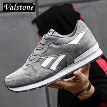 Valstone 2020 الرجال حقيقية أحذية رياضية من الجلد حذاء كاجوال بفتحات تهوية للماء خارج أحذية مشي ضوء الوزن المدربين الأزرق