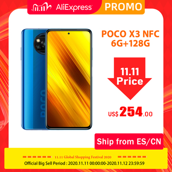 "Global Version Xiaomi POCO X3 NFC 6GB 128GB Smartphone Snapdragon 732G Smartphone 64MP Camera 5160mAh 33W Charge 6.67"" PocoX3"