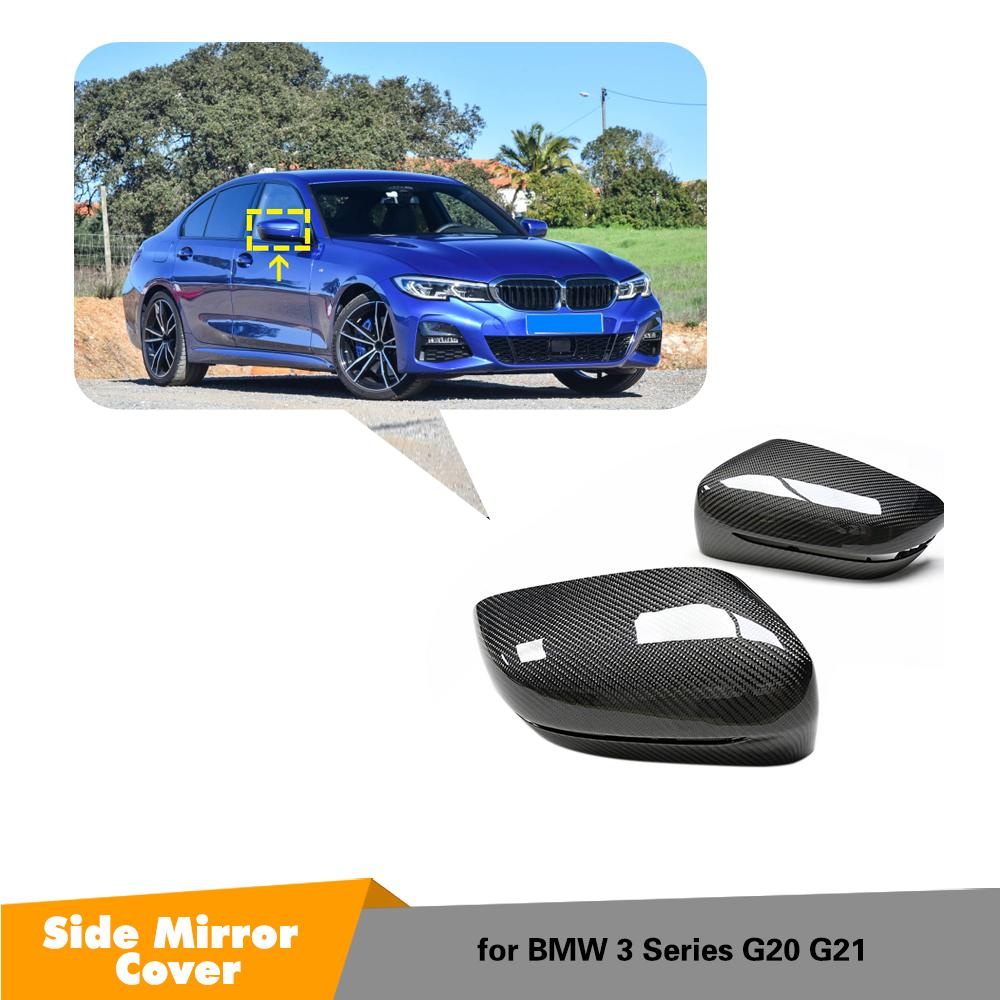 Carbon Fiber Mirror cover LHD For BMW G20 side Rear View Mirror Cover replacement&add on new 3 series 2019+ image