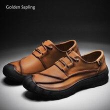 Золотые саплинговые классические рабочие ботинки мужские из натуральной кожи мягкие резиновые мужские кроссовки для уличного треккинга походная тактическая обувь