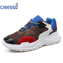 CINESSD 2019 New Casual Shoes Men Breathable Spring Mesh Walking Sneakers Comfortable Height Increasing Boy