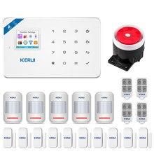 KERUI W18 WIFI GSM güvenlik Alarm sistemi tam dokunmatik klavye APP uzaktan kumanda ev güvenlik anti-hırsızlık hareket Alarm sistemi