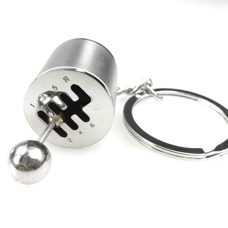 Key Chain Ring Fob Keyring Creative Car 6 Speed Gearbox Gear Shift Racing Tuning Model Keychain  AIC88
