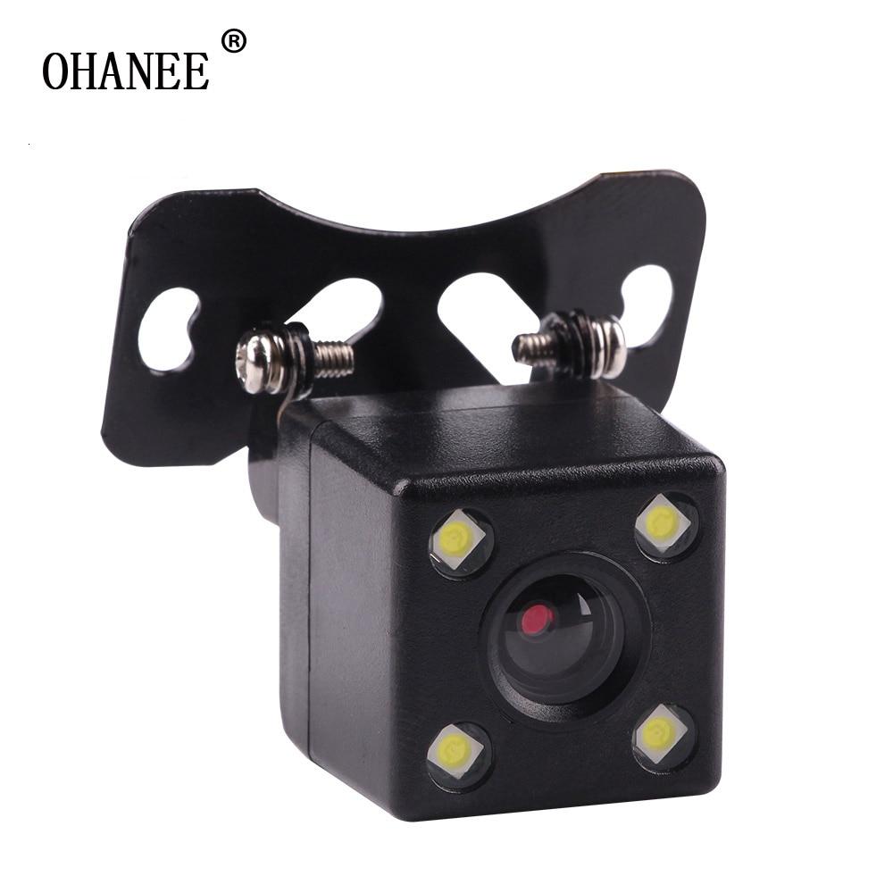 HD CCD 4 LED Night Vision Car Camera Car Rear View Camera 170 Wide Angle Universal Car Reverse Rearview Camera