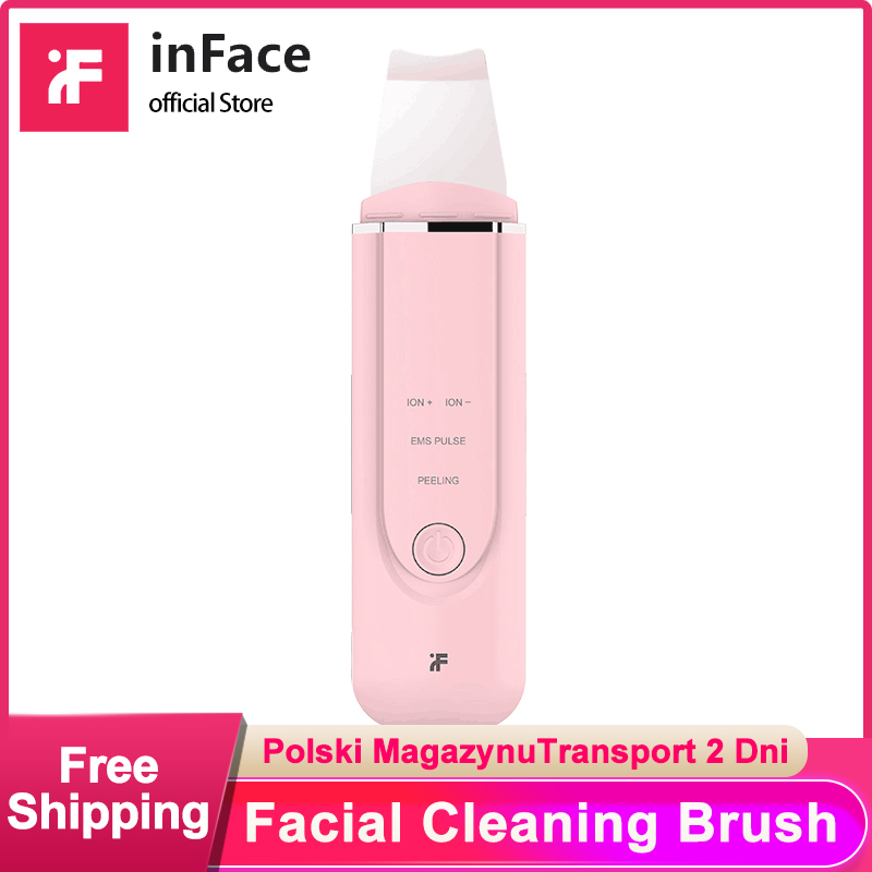 Inface Skin Scrubber Ultrasonic Ion Peeling Shovel Wrinkles Reduce Blackhead Removal Facial Pore Cleaner Instrument