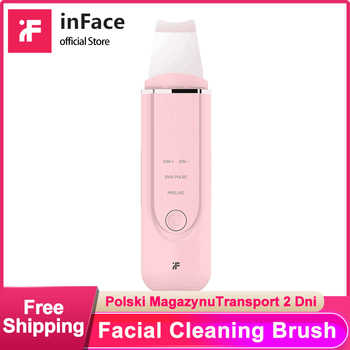 Inface Skin Scrubber Ultrasonic Ion Peeling Shovel Wrinkles Reduce Blackhead Removal Facial Pore Cleaner Instrument - DISCOUNT ITEM  0% OFF All Category