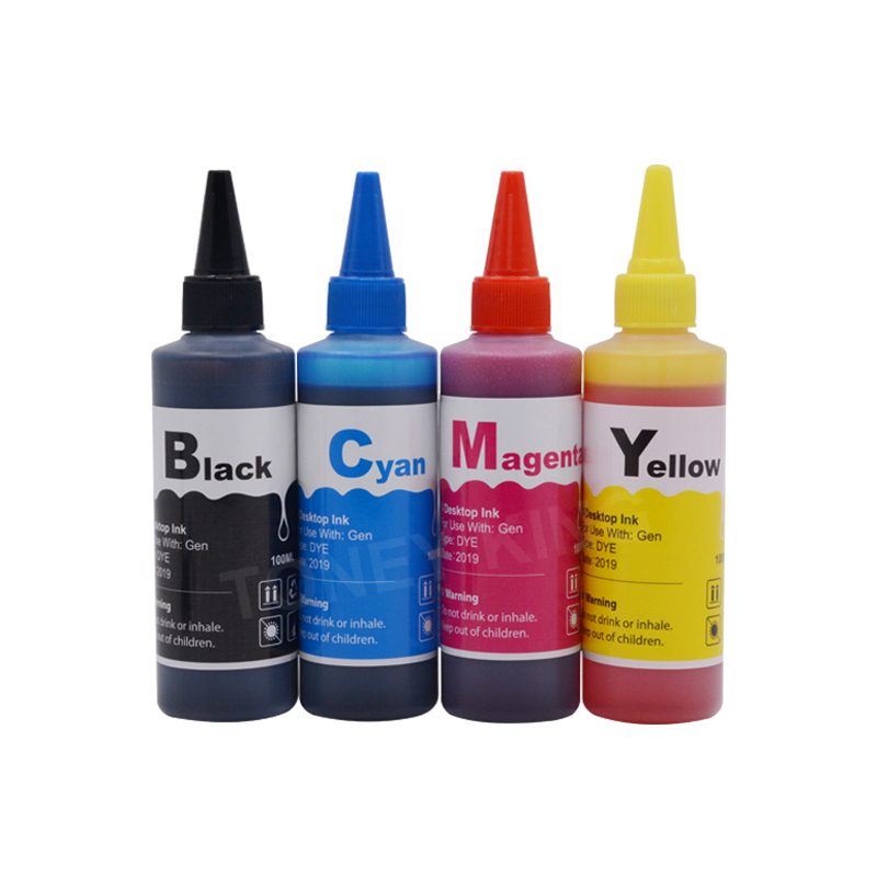 100ml Printer Ink For <font><b>HP</b></font> 123 <font><b>122</b></font> 121 302 301 304 300 140 141 21 22 652 650 XL 63 63xl Ink Cartridge Bottle Refill Kit image