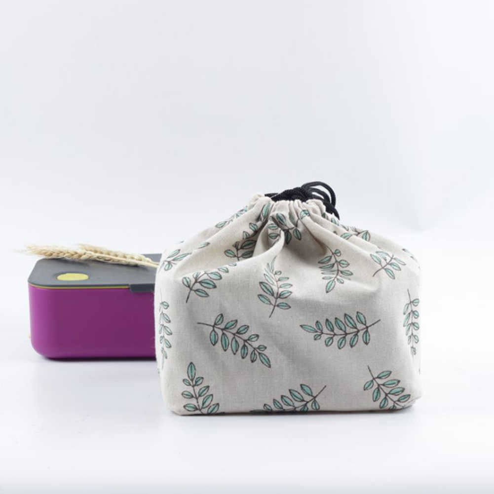Cloth Office Picnic Lunch Bag School Printed Food Storage Bento Pouch Japanese Style Cooler Thermal Insulated Portable Travel