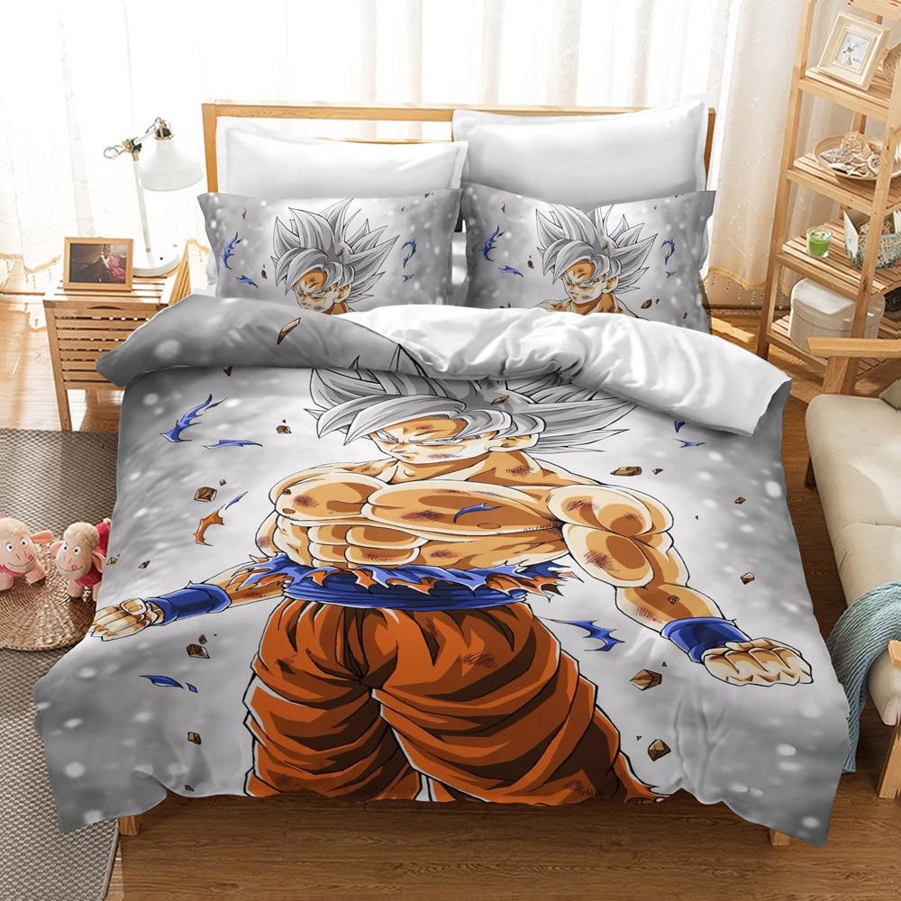 3D Dragon Ball Z Design Digital Printing Bedding Set Duvet Cover Pillowcase Bedclothes Dropshipping Boy For Gife