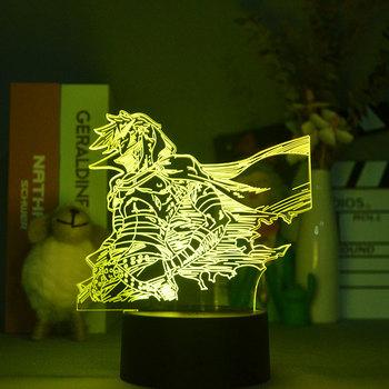 Akrylowe światła Led Anime Gurren Lagann Kamina lampka nocna czujnik dotykowy Led Nightlight dla pokoju dziecka wystrój tabeli lampa 3d gadżet tanie i dobre opinie jincor atmosferyczne cartoon CN (pochodzenie) ROHS Z certyfikatem VDE Lampki nocne Z tworzywa sztucznego Żarówki LED Touch