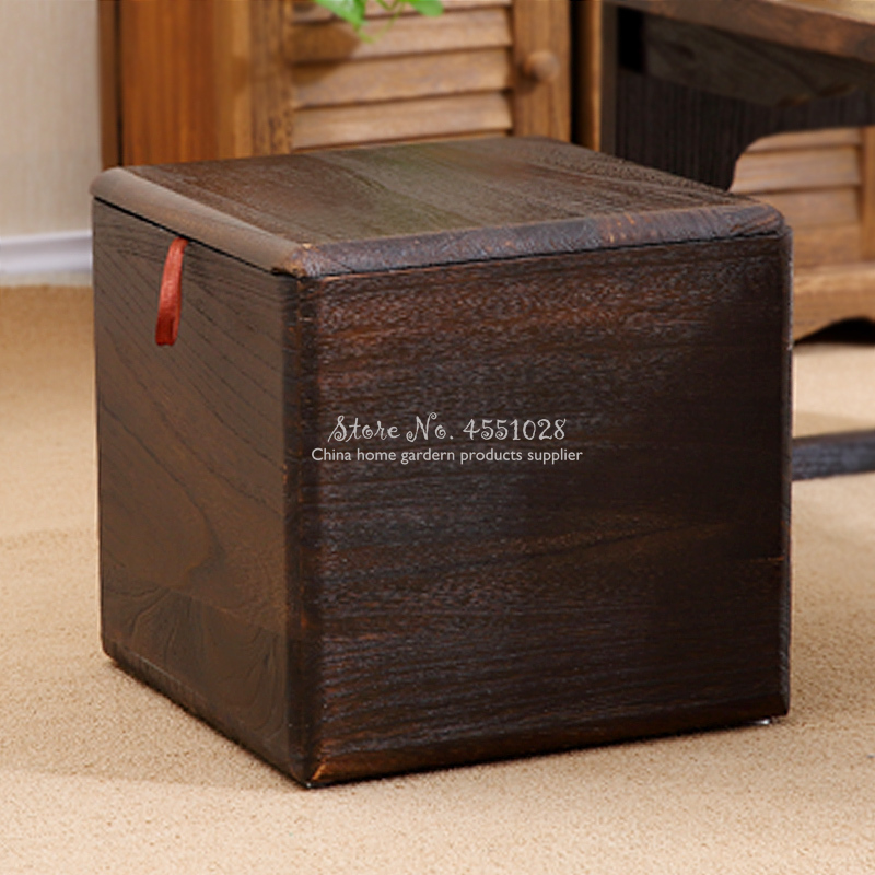 Lid And Wheel Pouf Cube Storage Basket