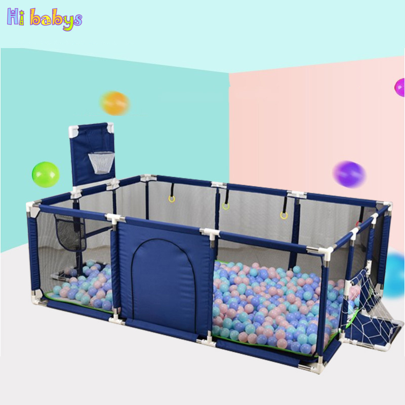 Baby Playpens Child Safety Fence Barriers Newborn Travel Basketball Hoop Oxford Cloth Infants Playing And Learning To Walk
