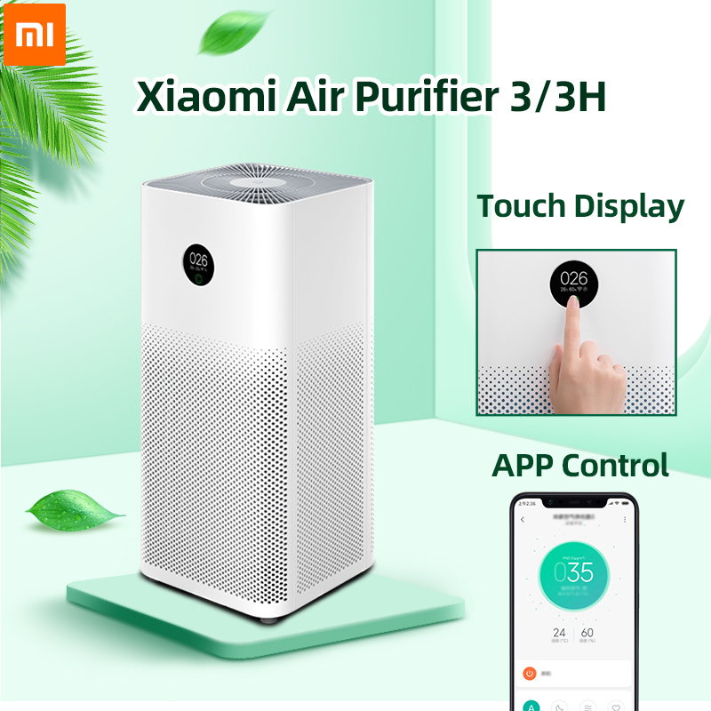 Xiaomi Air Purifier 3 3H Filter Mi Air Cleaner Fresh Ozone home auto Smoke formaldehyde sterilizer Cube Smart MIJIA APP Control(China)
