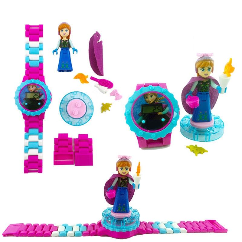 N0007 Children Watch Spiderman Batman Hulk Moana Princess Building Blocks Figures Children Watch Toys Kids Watch