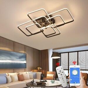 Image 1 - NEO Gleam APP Dimmable RC Led Chandelier For Living Room Bedroom Study Room 110V 220V Modern Led Chandelier Fixtures