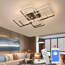 Plafonnier Led RC à intensité réglable, style néo brillant, design moderne, luminaire dintérieur, idéal pour un salon, une chambre à coucher ou un bureau, 110/220V