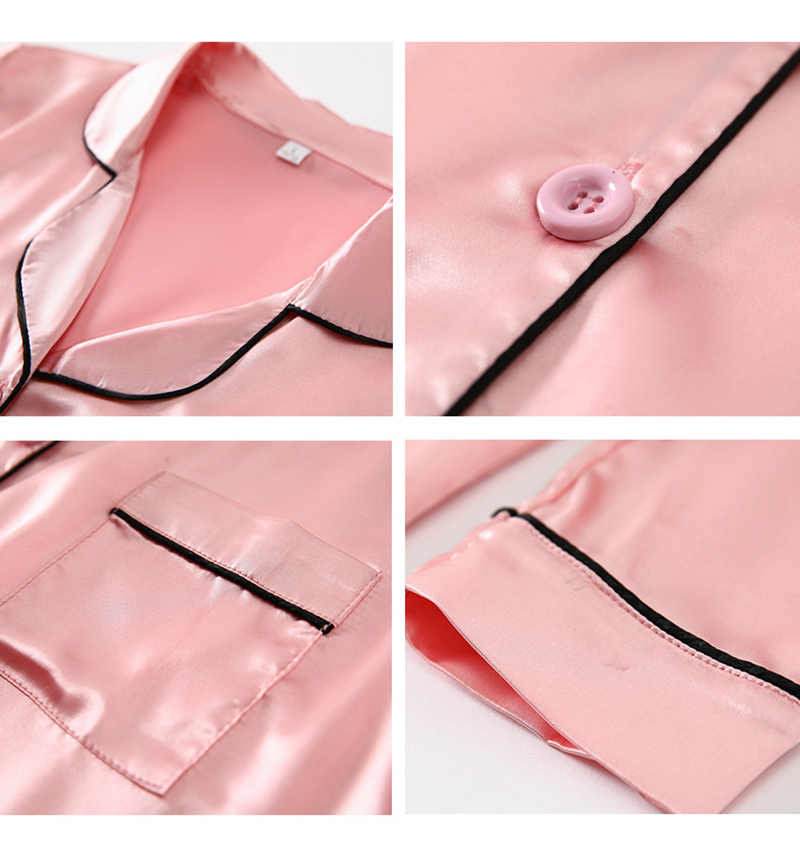 Hcb36e57853b240d4aa6ea14387dad1b7N JULY'S SONG 7 Piece Women Pajamas Set Stain Soft Pyjama Spring Summer Female Nightwear Solid Faux Silk Shorts Homewear 2020
