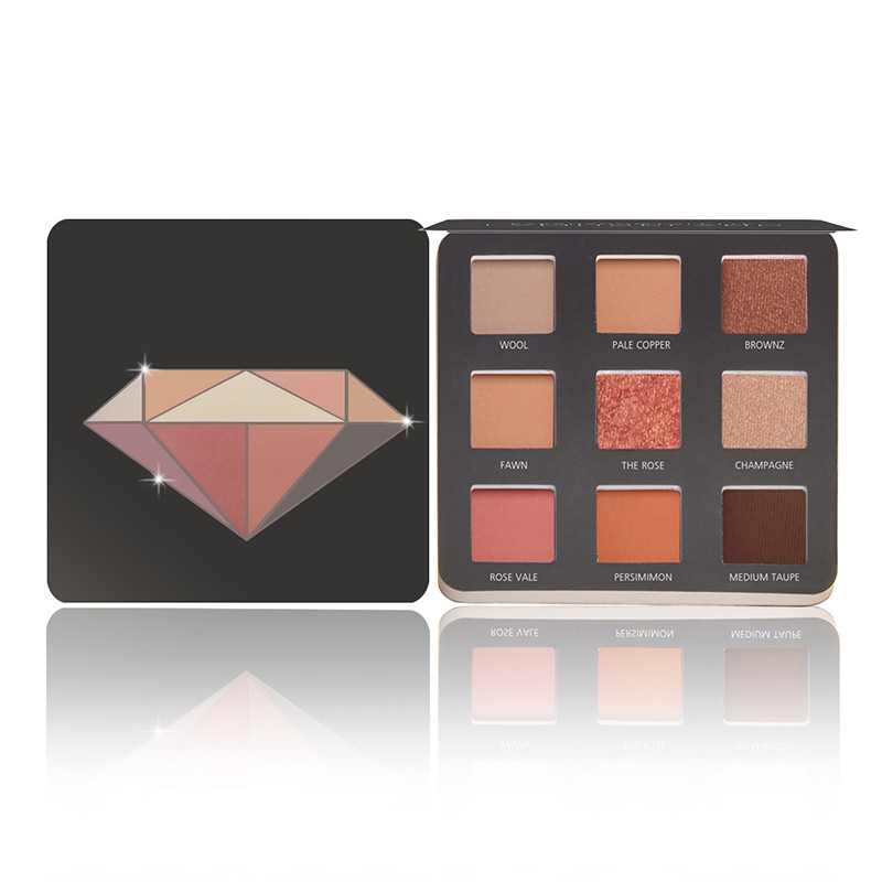 9 Color Eye Shadow Palette Earth Color Shimmer Matte Nude Eye Shadow Pigments Glitter Eye Shadow Smoky Make-Up Maquillage Facial
