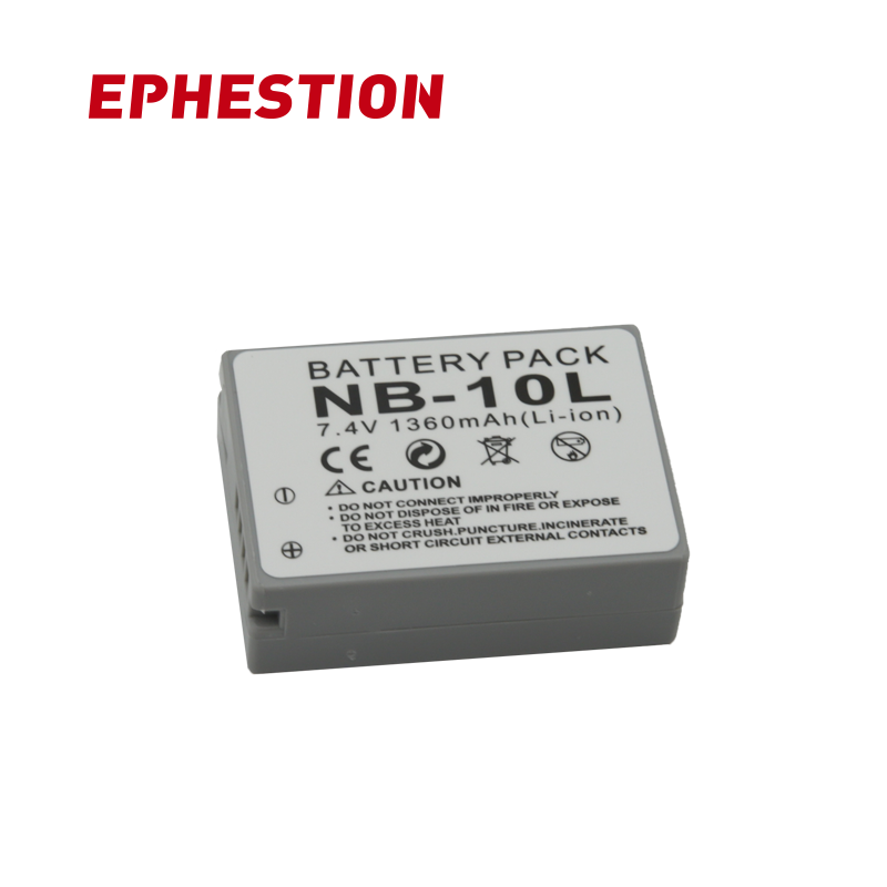 EPHESTION NB-10L NB10L NB 10L <font><b>Canon</b></font> G1X G15 G16 SX40HS SX50HS <font><b>SX60HS</b></font> SX40 SX50 SX60 HS Replacement Batteries High Capacity image