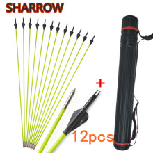 12pcs 30 Archery Fiberglass Arrows OD 5mm SP 600 Glassfiber Arrow With Tube For Bow Shooting Training Target Accessories