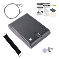 Vingerafdruk Kluis Massief Staal Security Key Gunsafe Kostbaarheden Sieraden Opbergdoos Portable Biometrische Vingerafdruk Kluizen Gunbox