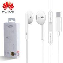 Fones de ouvido huawei fones usb tipo c, fone de ouvido original huawei p20, p30, mate 10, 20, 30 pro, rs, compatível com xiaomi 8 9 xiaomi