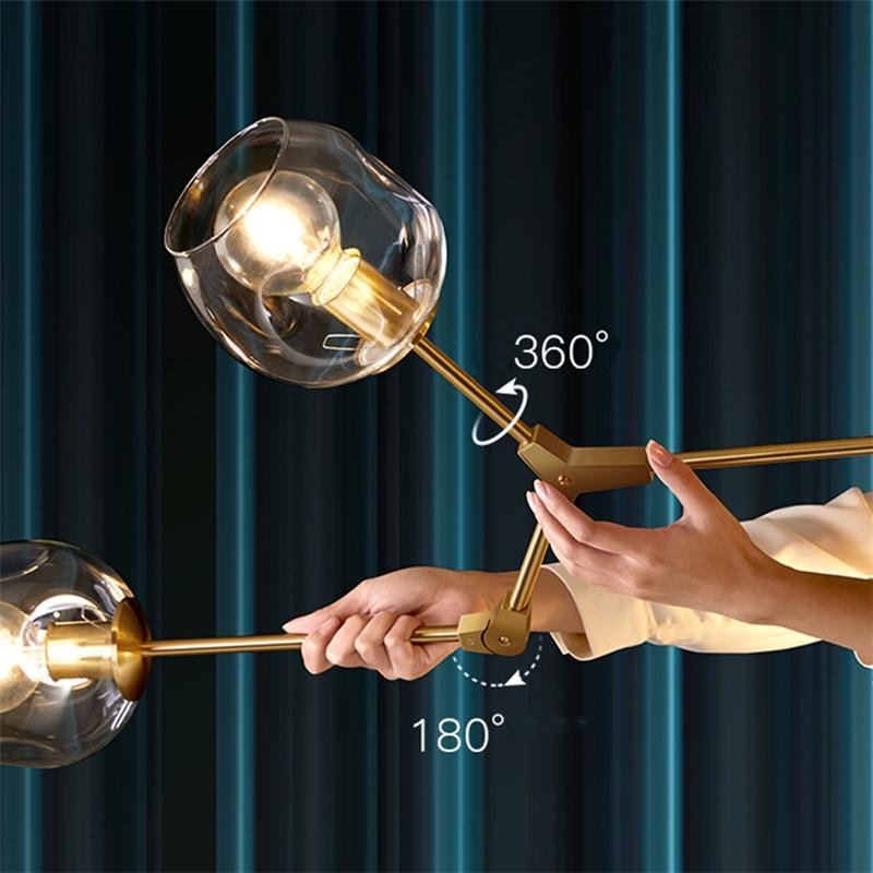 Modern LED Chandelier Lighting Glass Lustre LOFT Dining Bedroom Bedroom Ball chandeliers Kitchen Fixtures Luminaire pendant lamp 3