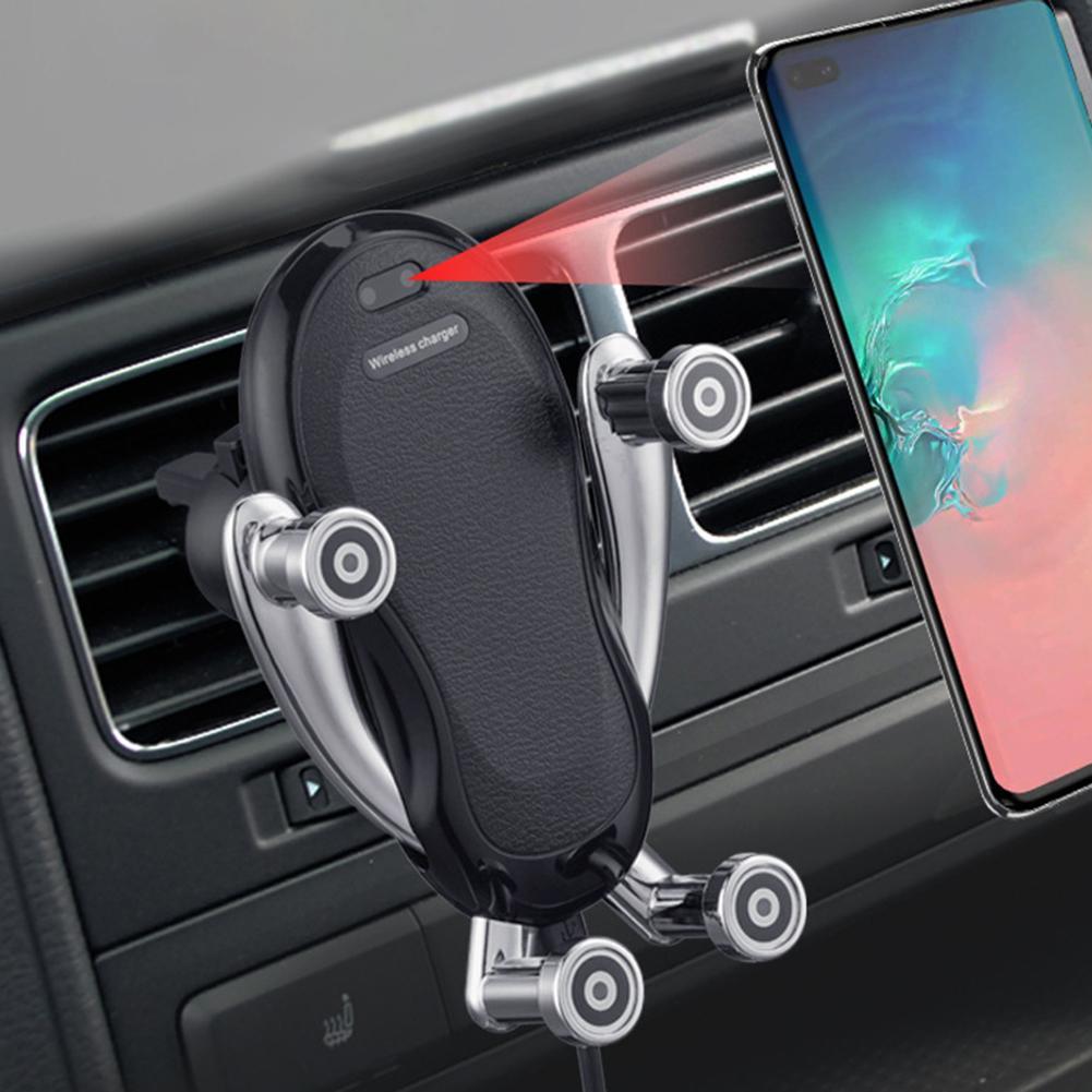 Беспроводное Автомобильное зарядное устройство K86, вентиляционное отверстие, автоматическое зажимное зарядное устройство для Iphone 11 Pro XR XS ...