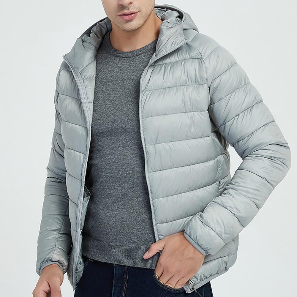 Hcb381d3946d6466087b94b313d95b247I Jacket Men Autumn Winter Style Light Weight Overcoat Outerwear Coats Cotton Warm Hooded Men's Jacket Coat chaqueta hombre S-2XL