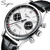 Sugess 1963 cronógrafo mecánico Gaviota movimiento st1901 cuello de cisne reloj hombres zafiro 40mm Metal relojes de pulsera para hombre 2020
