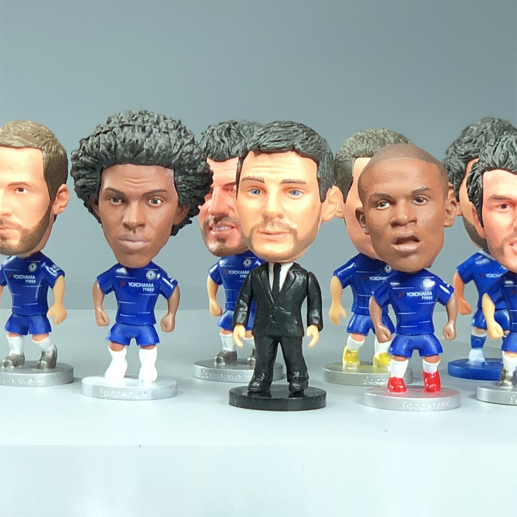 Football Chelsea Louis William Kanter Eden Hazard Higuain Pedro Lampard Star Figurine Model