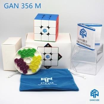 Fast delivery GAN cubes GAN 356 M stickerless 3x3 Speed cube Magnetic Professional Speed cube GAN356M 3x3 GAN 356 M Cubo Magico