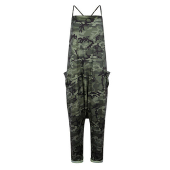 Summer Women Sexy Jumpsuits Camouflage Print Spaghetti Strap V Neck Casual Sleeveless Military Streetwear Rompers 4