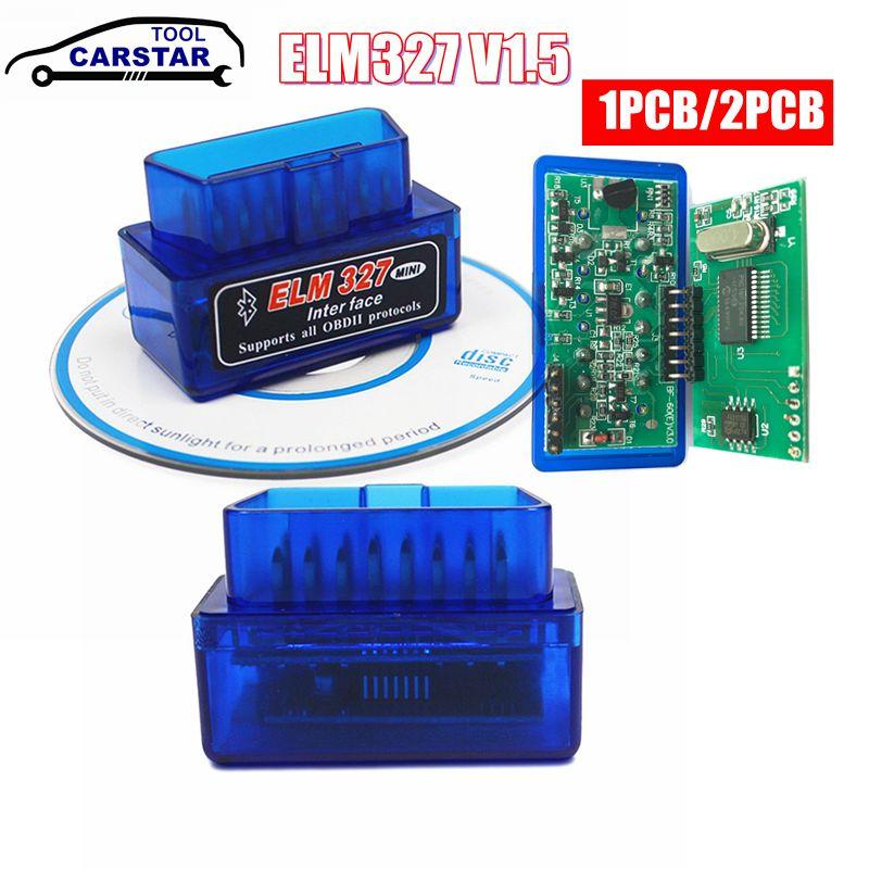Мини-сканер PIC18F25K80 ELM327 V1.5 Bluetooth ELM 327 v1.5 OBD2, диагностический адаптер, инструмент для сканирования OBD OBDII считыватель кодов