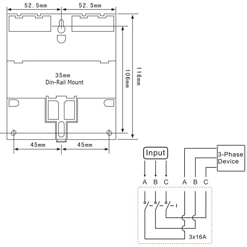 TM613 380V 16A kolmefaasiline digitaalne 7 päeva programmeeritav - Mõõtevahendid - Foto 6