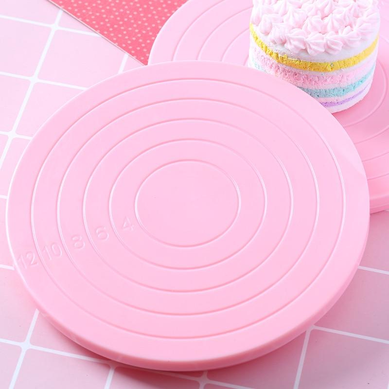 1PC Rotierenden ton arbeits plattenspieler Multi-zweck schlamm tablet mit scale Ton creme ton kuchen form dekoration Markiert größe werkzeug
