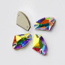 Сверкающее стекло кристалл ab пришивные камни плоская задняя